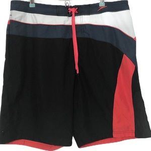 Speedo Mens Swim Trunks Drawstring Liner Sz XL